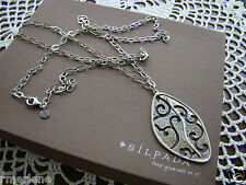 """Silpada Sterling Silver """"Stormy Cove"""" Long Necklace $219  N2446 Retired!"""