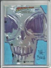 Indiana Jones 2008 Topps Full Color Artist Sketch Card #1/1 by Matt Busch