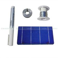 40-3x6 Solar Cells for Solar Panel DIY Kits With Bus Wire Tabbing Wire Flux Pen