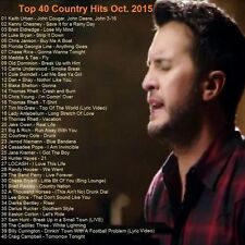 Country Music Promo DVD, Top 40 Country Hit Video's Oct. 2015, NEW ONLY on Ebay!