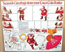 COCA COLA BABBO NATALE USA 1970er season's Greetings from your COCA COLA Bottler
