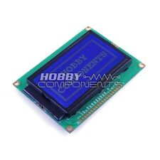 HOBBY COMPONENTS 128 x 64 Dots Graphic Blue Backlight LCD Display module ST7920
