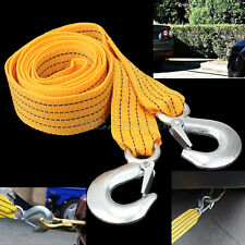 Hot 3M 3 Tons Tow Towing Pull Rope Strap Heavy Duty Road Recovery Car Vehicle