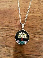 Millefiori Tree Italian Glass Arezzo Handmade Sterling Silver Pendant Necklace