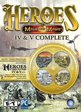 Heroes of Might and Magic IV & V Complete PC Games Windows 10 8 7 Computer NEW