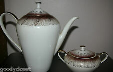 HAND PAINTED BAVARIA GERMANY ROSE PORT TEA POT AND SUGAR WITH LIDS 1925-1932