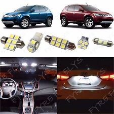 11 Piece white LED interior conversion package kit and license plate lights NM4W
