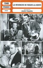 Fiche Cinéma. Movie Card. La revanche de Roger-la-Honte (France) A. Cayatte 1946