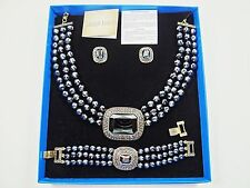 "HEIDI DAUS Stunning ""Tailored to Please"" Crystal Necklace Bracelets Earrings Set"