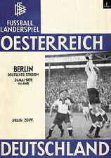 Fußball Football Programm 1931 Deutschland Germany - Österreich Austria Reprint