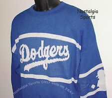 Vintage 80s LA Dodgers CLIFF ENGLE Sweater MLB Blue NWT New Old Stock NOS LARGE