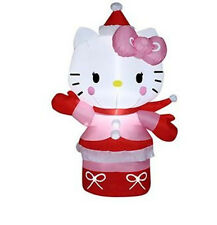 CHRISTMAS  SANTA HELLO KITTY  WINTER OUTFIT AIRBLOWN INFLATABLE  3.5 FT
