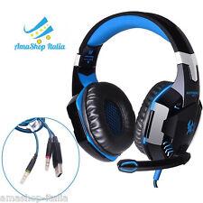 EACH G2000 Cuffie Headphone da Gioco Gaming con Microfono per PC Laptop OFFERTA