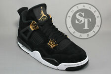 AIR JORDAN 4 IV RETRO 308497-032 ROYALTY IN HAND BLACK METALLIC GOLD SIZE: 12