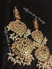 Hyderabadi nazam/Mughal Stile Bollywood Magar/Gioielli Orecchini Oro Placcato