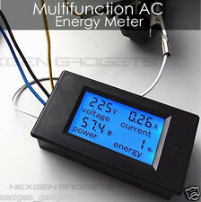 NEW AC 80-260V LCD Digital 20A Wattmeter Power Energy Meter Ammeter Voltmeter