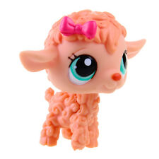 Rare Hasbro Littlest Pet Shop LPS Orange Curly Sheep Lamb Gift Toy Animals