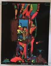 East Meets West Vintage Houston Blacklight Poster Psychedelic 1970 Pin-up 70's