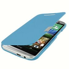 COVER CUSTODIA FLIP CASE SOTTILE SLIM PER HTC ONE M8S BLUE LIBRO+CALAMITA BLOCCO