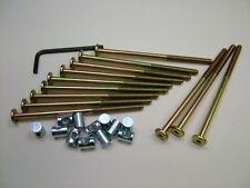Lit/cot bolts 12 sets of M6 x 115mm boulon, allen clés & 14mm baril écrou = 25 objets
