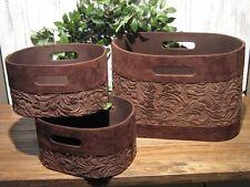 3er Set Box, Aufbewahrung Textilbezug Flowerprint