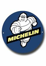 "MICHELIN MAN 11"" INCHES ROUND METAL SIGN.CLASSIC BRITISH TYRES.GARAGE WALL SIGN."