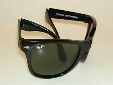 New RAY BAN Sunglasses Black FOLDING WAYFARER  RB 4105 601 G-15 Glass 54mm Large