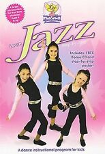 TINKERBELL DANCE STUDIO - LEARN JAZZ STEP-BY-STEP (DVD) instructor to kids NEW