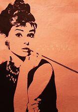 """Breakfast At Tiffanys Audrey Hepburn  old film  Art Pop movie Canvas  Framed 24"""""""