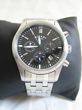 ROTARY MEN'S WATCH GB00277/04 STAINLESS STEEL BLACK DIAL CHRONOGRAPH GENUINE