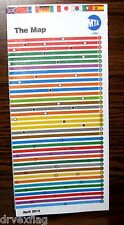Vintage 2014 New York Subway, LIRR and Metro-North Rail Map