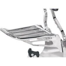 Motherwell Chrome Luggage Rack w/ Backrest Mount for Harley Softails