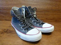 Converse CT All Star Hi Top Grey Canvas Trainers Size UK 3 EUR 35