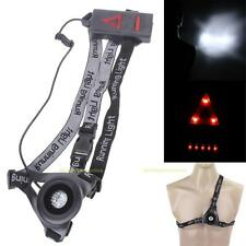 USB Rechargeable Night Running Flashlight Chest Lamp Torch For Outdoor Sports