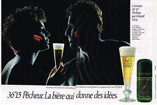PUBLICITE ADVERTISING  1989  36//15  PECHEUR  bière (2 pages)