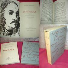 DOMINIQUE  Eugène Fromentin Lithographie originale de André Minaux   EO