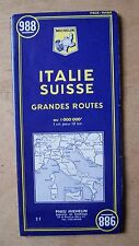 carte MICHELIN 988 ITALIE SUISSE GRANDES ROUTES 1967