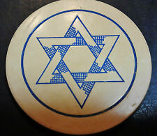 Vintage Lot of 10, SIX POINT STAR OF DAVID POKER CHIPS in WHITE, IN CLAY GROUP 1