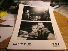 SAFRI DUO PROMOTION PHOTO VINTAGE  90'S PROMO SHOT 8 X 10 COLLECTABLE