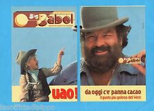 TOP989-PUBBLICITA'/ADVERTISING-1989- BROOKLYN BIG BABOL BUD SPENCER (B) -2 fogli
