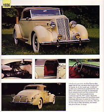 1936 Packard One-Twenty Convertible Indy Pace Car Article - Must See!! 120