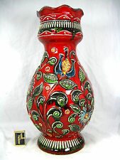 "Beautiful glazed 70´s "" Flower Power "" design Bay "" Relief "" Keramik Vase 62 45"