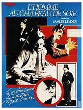 Affiche 120x160cm L'homme Au Chapeau De Soie 1983 Maud /Max Linder Documentaire