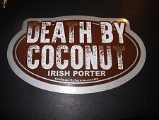 OSKAR BLUES BREWING Death By Coconut Porter STICKER decal craft beer brewery