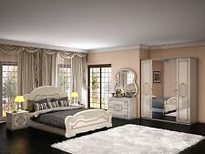 Schlafzimmer Laura in Beige 6 türig Luxus italienische Möbel aus Italien