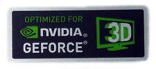 NVIDIA GEFORCE 3D STICKER LOGO AUFKLEBER 28x11mm (138)