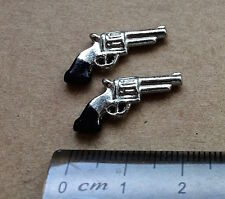Two Toy Miniature Pistols, Dolls House Miniatures,1.12 Scale Accessory.