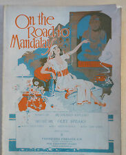 On The Road To Mandalay - 1930 sheet music - exotic scene cover - High Voice