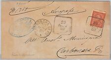 ITALIA REGNO:   LETTERA con annullo di COLLETTORIA di Pieve di Coriano 1889