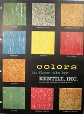 KENTILE Floors VINYL ASBESTOS & ASPHALT Tile Flooring Catalog 1957